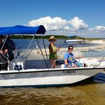 Our rental boat at Cayo Costa State Park