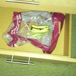 Thrash left in drawer