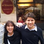 Massimo and his nice sister with our excellent travel agent Stig at firmatur,no