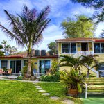 Beach cottages in Holmes Beach, Anna Maria island, Florida Gulf Coast