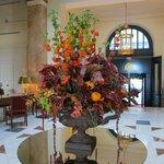 wonderful flower arrangements every where