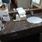 bathrom sink area