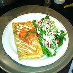 Come and enjoy Chicken Margherita crepe