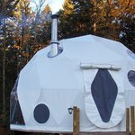 The Dream Dome has a wood stove very cozy!