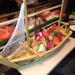 Sashimi for two.  Actually, I challenge any two people to eat it all!