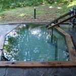 五角形の「茜の湯」露天風呂