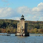 Rondout Lighthouse viewed from boat