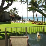 View from Lanai/Patio - magnificent view of ocean, beautiful grounds & pool