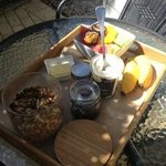 delicious breakfast delivered daily to your room
