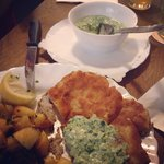 Schnitzel with frankfurt green source