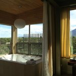 Bathroom overlooking Olive Grove