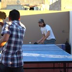 Sport afternoons on a roof terrace