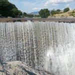 Waterfall next to Niagara Restaurant