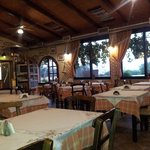 Inside the restaurant. Quaint, simple and very good food