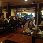 Dinner inside the restaurant