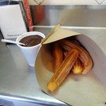 Fresh churros with hot chocolate - what a delight!