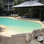 The heated pool