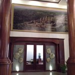 Painting in hotel's lobby