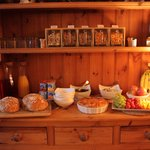 Thropton Demesne Breakfast Buffet with home-made bread