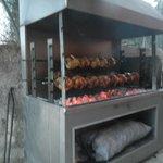 BBQ spit roast