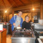 Yiannis and mum cooking