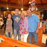 Katerina, Yiannis and us behind bar