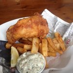 Ale battered fish & chips