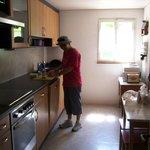 The communal kitchen.