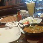 Chicken Karahi, Stuffed Paratha, Salad & Mango Lassi