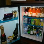 Minibar as it is filled normally