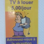 TV to rent, only 5 Euros
