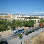 vue sur l'Alcazar depuis l'hôtel