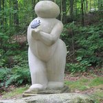 One of the more whimsical sculptures in the Forest
