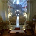 Blick vom Turm in das Kirchenschiff