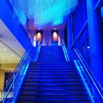 The dramatic stairs to the ballrooms