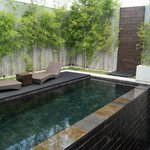 Middle level pool/decking area