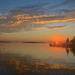 Sunrise from our ocean beach