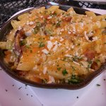 "Their 'Famous Baked Mac & Cheddar Cheese""  Delicious in all it's flavor and creaminess."