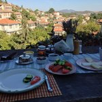 View and breakfast spread