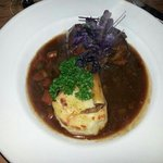 lamb shank and dauphonise potatoes
