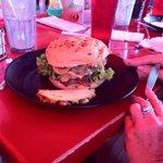 October's special burger at Cool Cat's