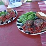 500g of barbequed lamb per plate!!