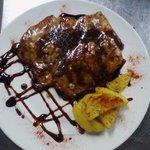 Petto di pollo aceto balsamico e grana.