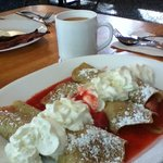 Oregon Strawberry Crepes and Coffee