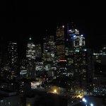 vue du toit la nuit