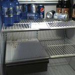 messy, dirty refrigerator