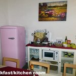 The shared fridge and tea/coffee machine