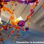 Detail from the chandelier in the kitchen area