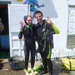 After the dive!