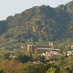 View from La Villa Bonita to downtown Tepoztlan